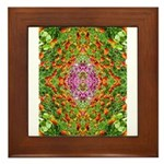 Flower Garden Carpet 4 Framed Tile