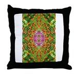 Flower Garden Carpet 4 Throw Pillow