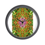 Flower Garden Carpet 4 Wall Clock