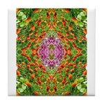 Flower Garden Carpet 4 Tile Coaster