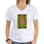 Flower Garden Carpet 4 Women's V-Neck T-Shirt