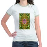 Flower Garden Carpet 4 Jr. Ringer T-Shirt