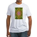 Flower Garden Carpet 4 Fitted T-Shirt