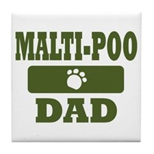Malti-Poo Dad Tile Coaster