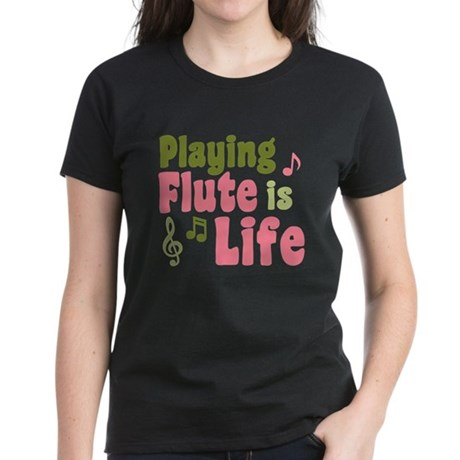 Flute is Life Women's Dark T-Shirt