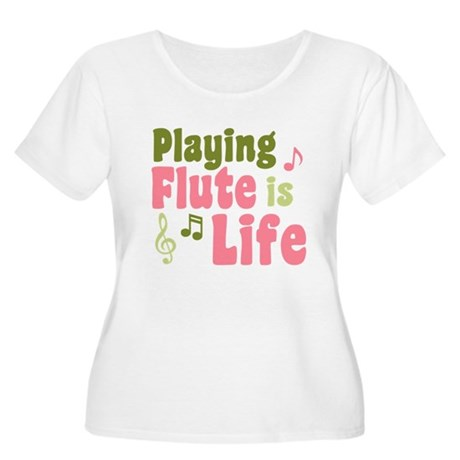 Flute is Life Women's Plus Size Scoop Neck T-Shirt