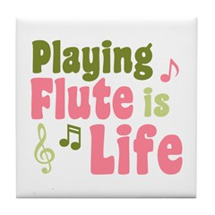 Flute is Life Tile Coaster