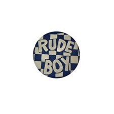Rude Boy OiSKINLBU (Blue) Mini Badge/Button/Pin