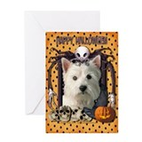 Halloween Nightmare - Westie Greeting Card