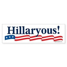 Hillaryous! Bumper Car Sticker