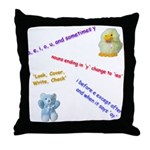Spelling Rules Throw Pillow
