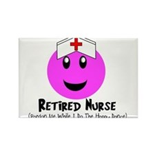 Retired Nurse Rectangle Magnet