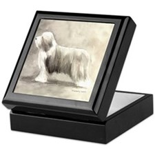 Funny Bearded collie Keepsake Box
