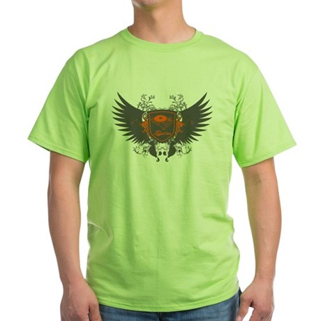 Turntable Shield Green T-Shirt