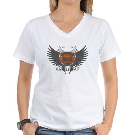 Turntable Shield Women's V-Neck T-Shirt
