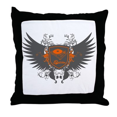 Turntable Shield Throw Pillow