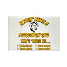Pittsburgh Girl Rectangle Magnet