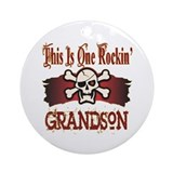 Rockin Grandson Ornament (Round)