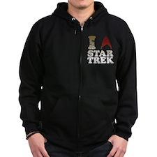 I love Star Trek Zip Hoodie