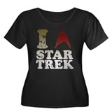 I love Star Trek Women's Plus Size Scoop Neck Dark