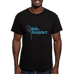 Hello, Computer! Men's Fitted T-Shirt (dark)