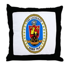 USS Louisiana SSBN 743 Throw Pillow