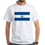 El Salvador Flag White T-Shirt