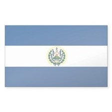 El Salvador Flag Rectangle Decal