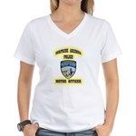 Surprise Police Motors Women's V-Neck T-Shirt