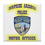 Surprise Police Motors Tile Coaster