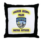 Surprise Police Motors Throw Pillow