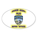 Surprise Police Motors Sticker (Oval 10 pk)