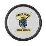 Surprise Police Motors Large Wall Clock