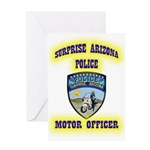 Surprise Police Motors Greeting Card