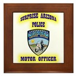 Surprise Police Motors Framed Tile