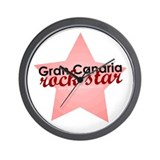 Gran Canaria Rock Star Wall Clock