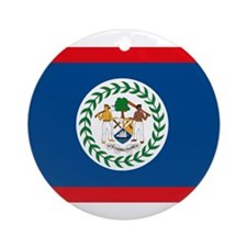 Belize Flag Ornament (Round)