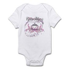Princess Warrior Blue Infant Bodysuit