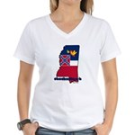 ILY Mississippi Women's V-Neck T-Shirt