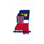 ILY Mississippi Sticker (Rectangle 10 pk)