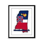ILY Mississippi Framed Panel Print