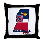 ILY Mississippi Throw Pillow