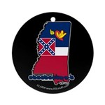 ILY Mississippi Ornament (Round)