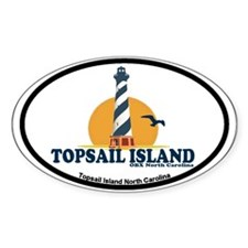 Topsail Island NC - Lighthouse Design Decal