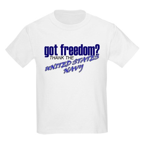 Got Freedom? Navy Kids T-Shirt