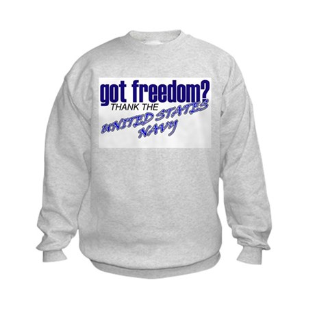 Got Freedom? Navy Kids Sweatshirt