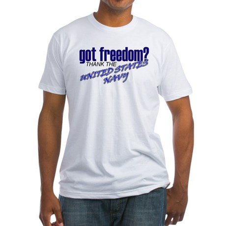 Got Freedom? Navy Fitted T-Shirt