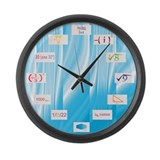 Math Equations Large Wall Clock