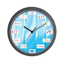 Math Equations Wall Clock