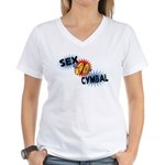 Sex Cymbal Women's V-Neck T-Shirt